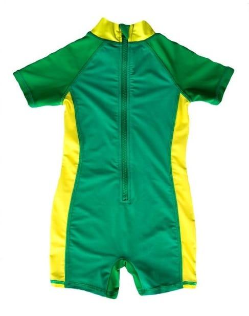 Grøn badedragt dreng - bag