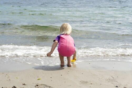 UV Badedragt pige pink