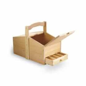 Red Toolbox - Toolbox House Kit - stor værktøjs kasse til børn