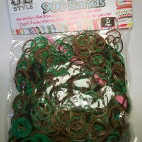 Loom Bands grøn og mokka