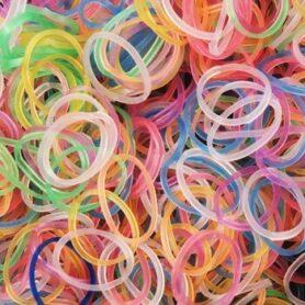 Loom Bands gennemsigtig farver