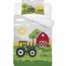 Traktor sengetøj - junior