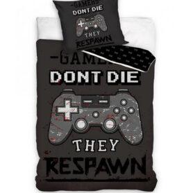 Gamers dont die they respawn - gamer sengetøj