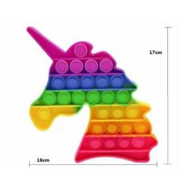 Pop It Fidget - Unicorn Rainbow