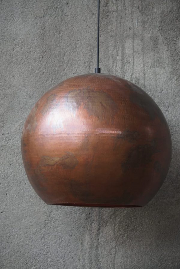 Original Bruneret Kobber Balilampe