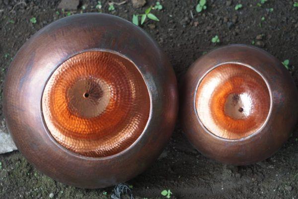Original Bruneret Oxideret Balilampe Ø45cm