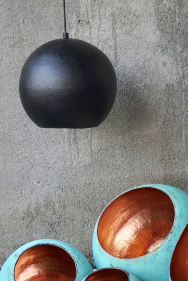 Original Sort Oxideret Balilampe