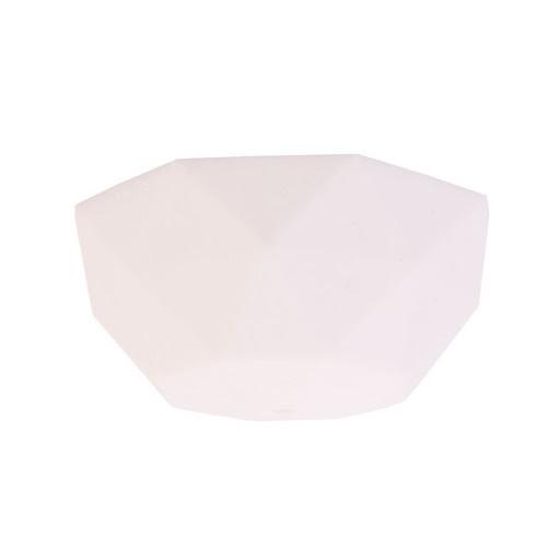 Silikone loftrosette Facet - Hvid