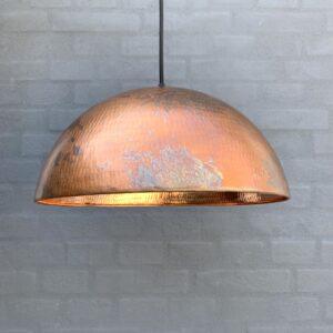 1 stk Original BALIMOON Bruneret Kobberlampe Ø25cm