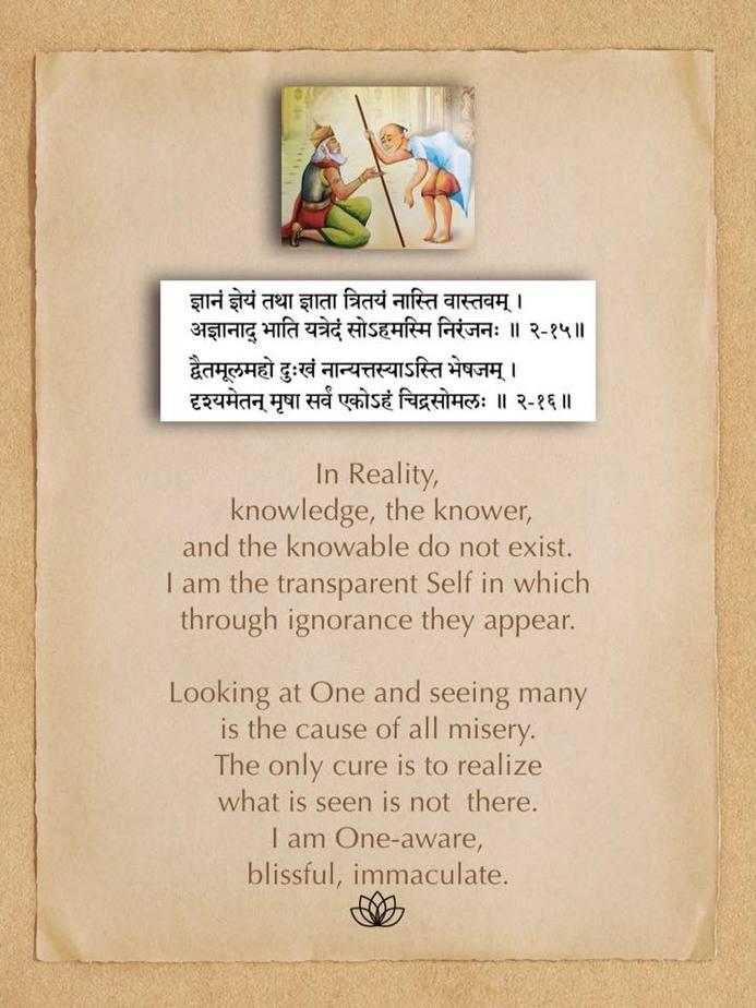 Ashtabakra Gita (Joy of Self-Realization) Verse: 2.15, 2.16