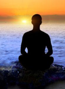 meditation by sea