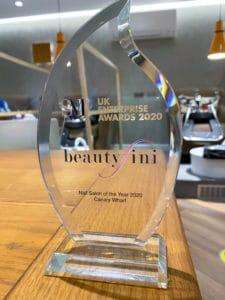 BEAUTYFINI WINS SALON OF THE YEAR 2020 CANARY WHARF