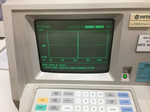 Spektrofotometern funkar!