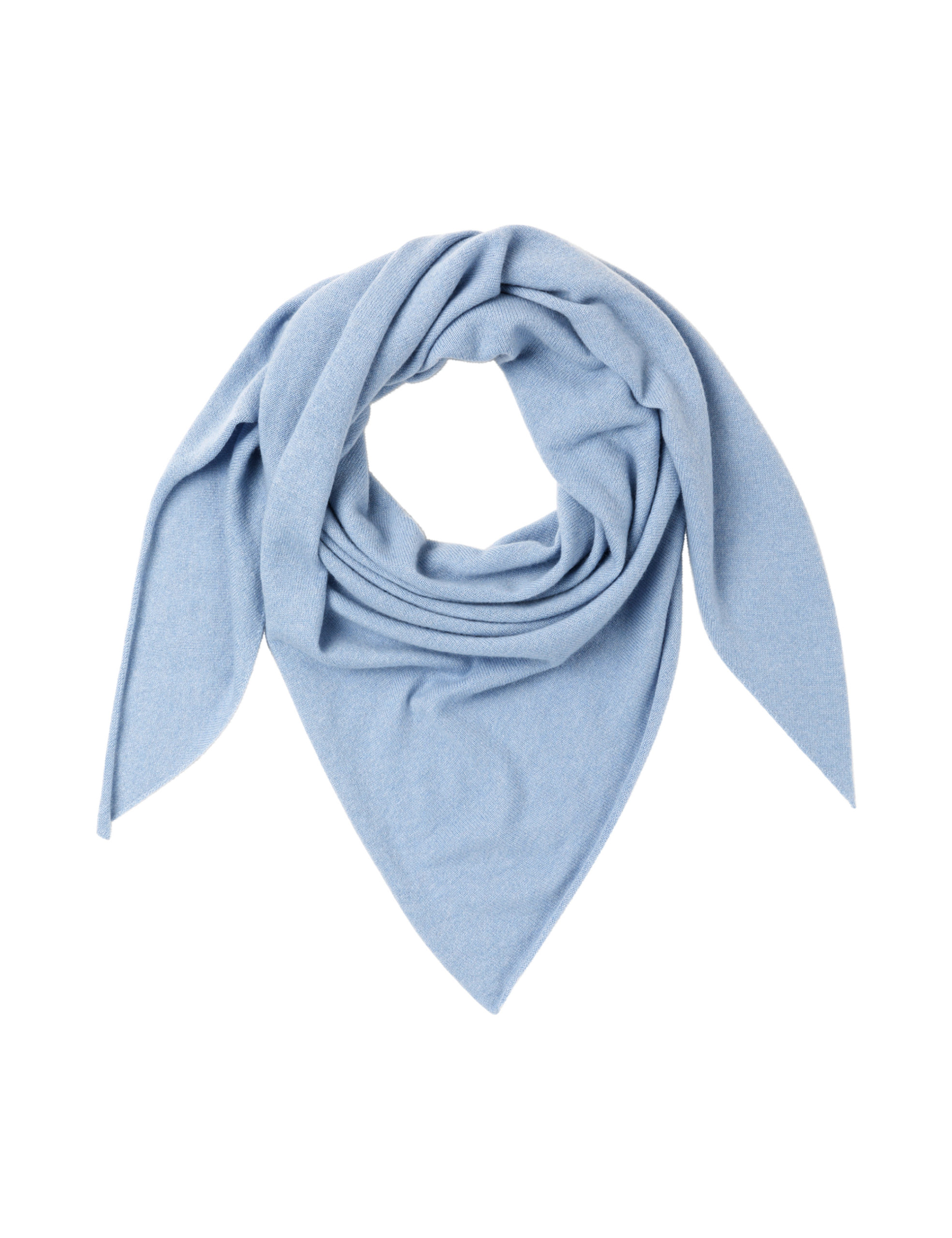 TRIANGLE SCARF – Periwinkle heather