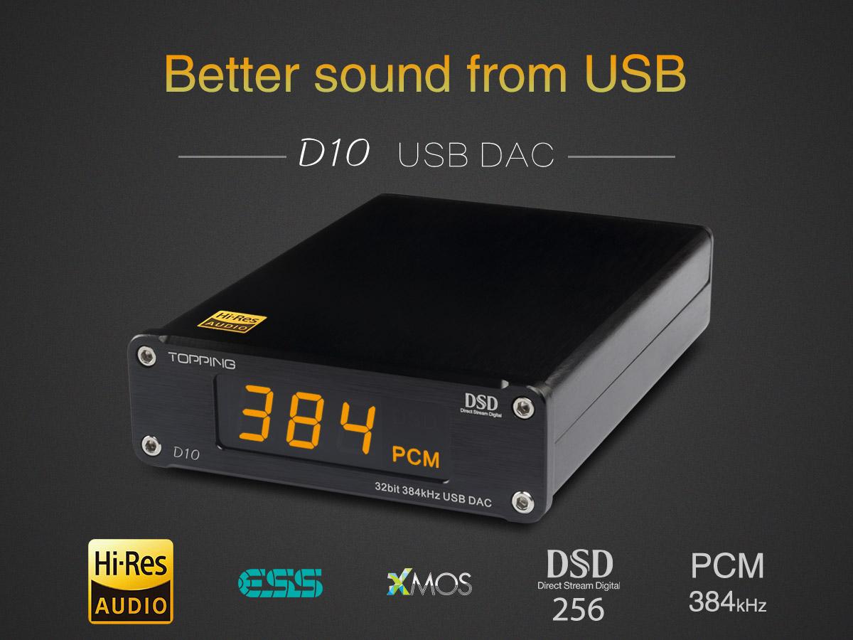 Topping D10 – Billig  32bitars USB-DAC för bättre ljud ifrån datorn