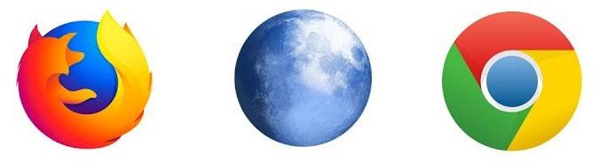 Webbläsare tips – Firefox,  Pale Moon och Chrome