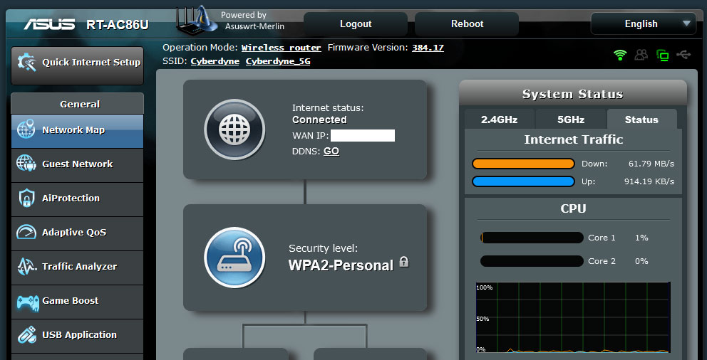 Merlin Firmware till Asus routrar och DNS-over-TLS