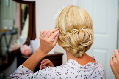 Rachel's hair (Wedding Day)