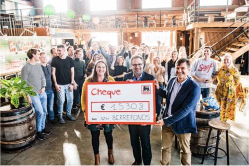 Delhaize schenkt 15.308 euro aan Berrefonds