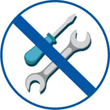 Ingen verktøy ikon