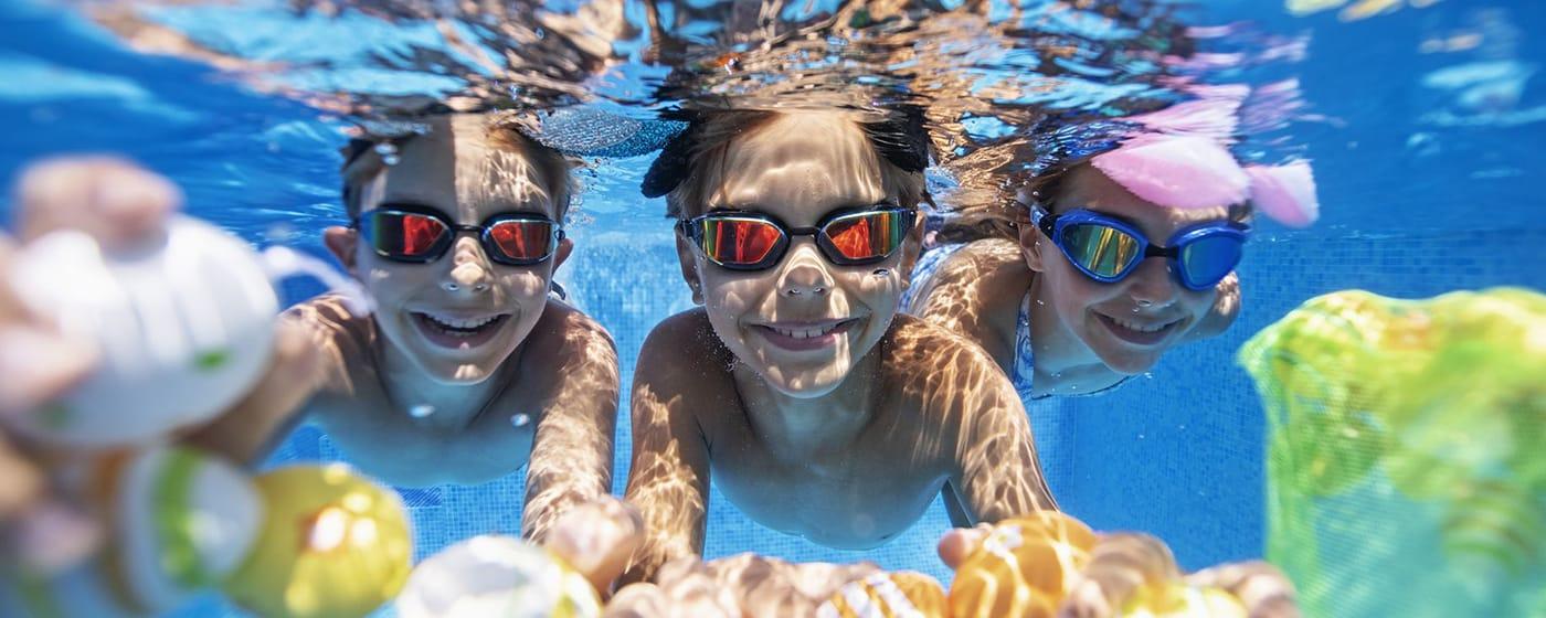 Barn svømming, lek og aktivitet bestway steel pro max