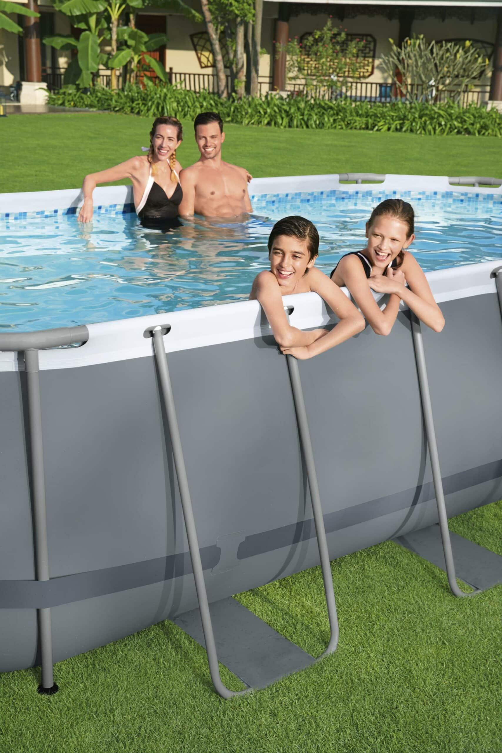 Ovalt Power Steel X2 bassengsett for familien