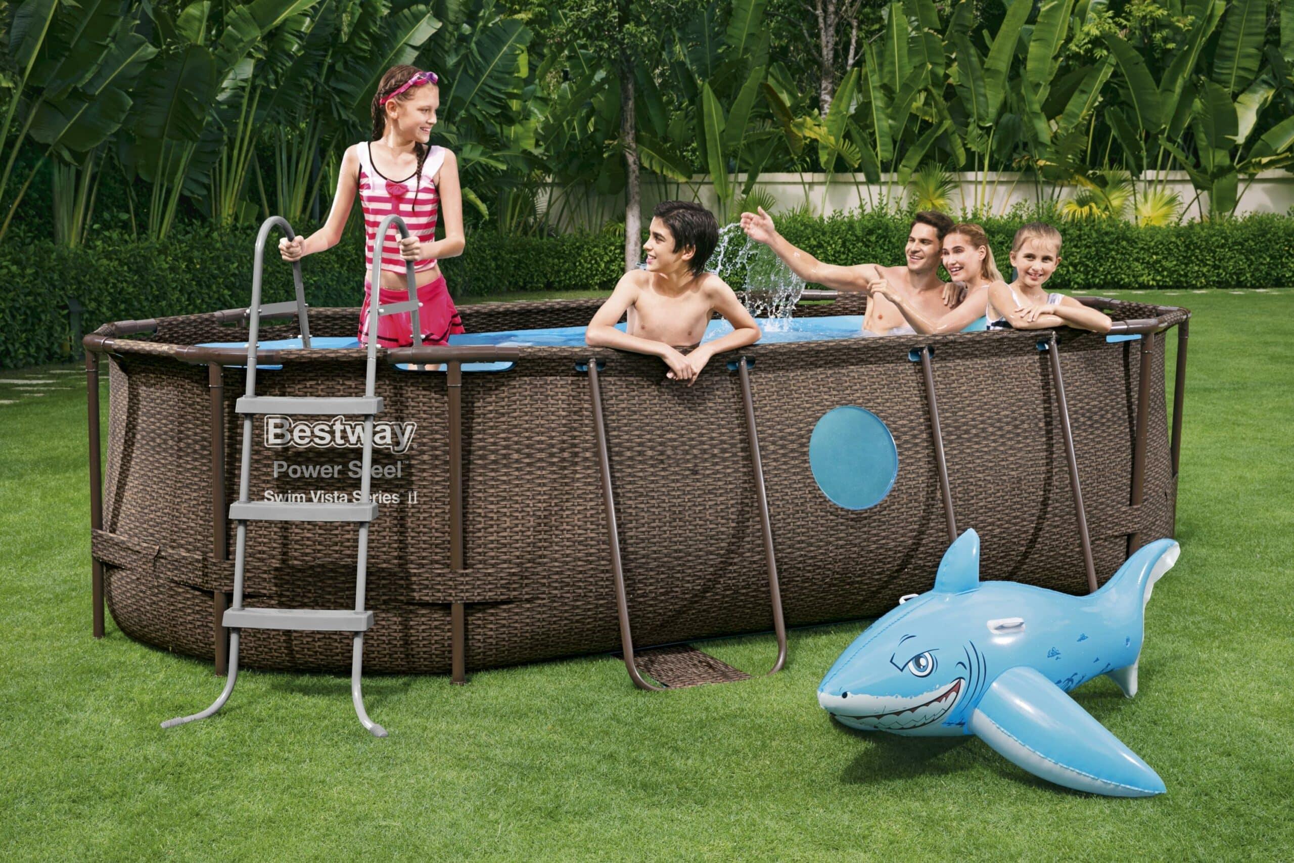 Ovalt Swim Vista R1 barnebasseng