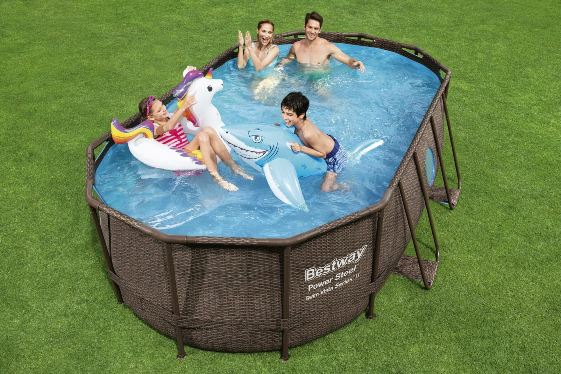 Ovalt Swim Vista R1 familiebasseng