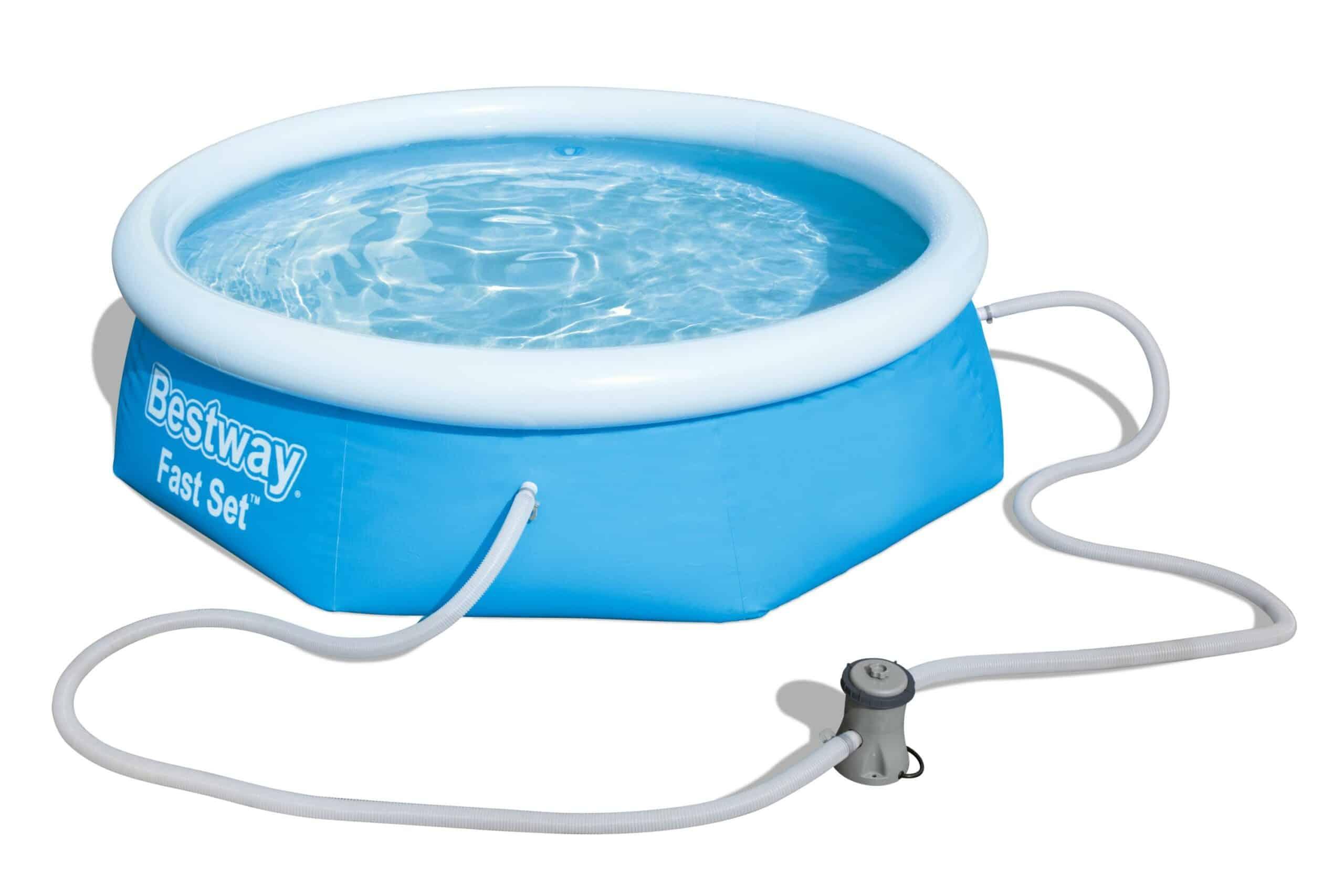 Rundt Bestway Fast U1 filterpumpe oppblåsbart basseng