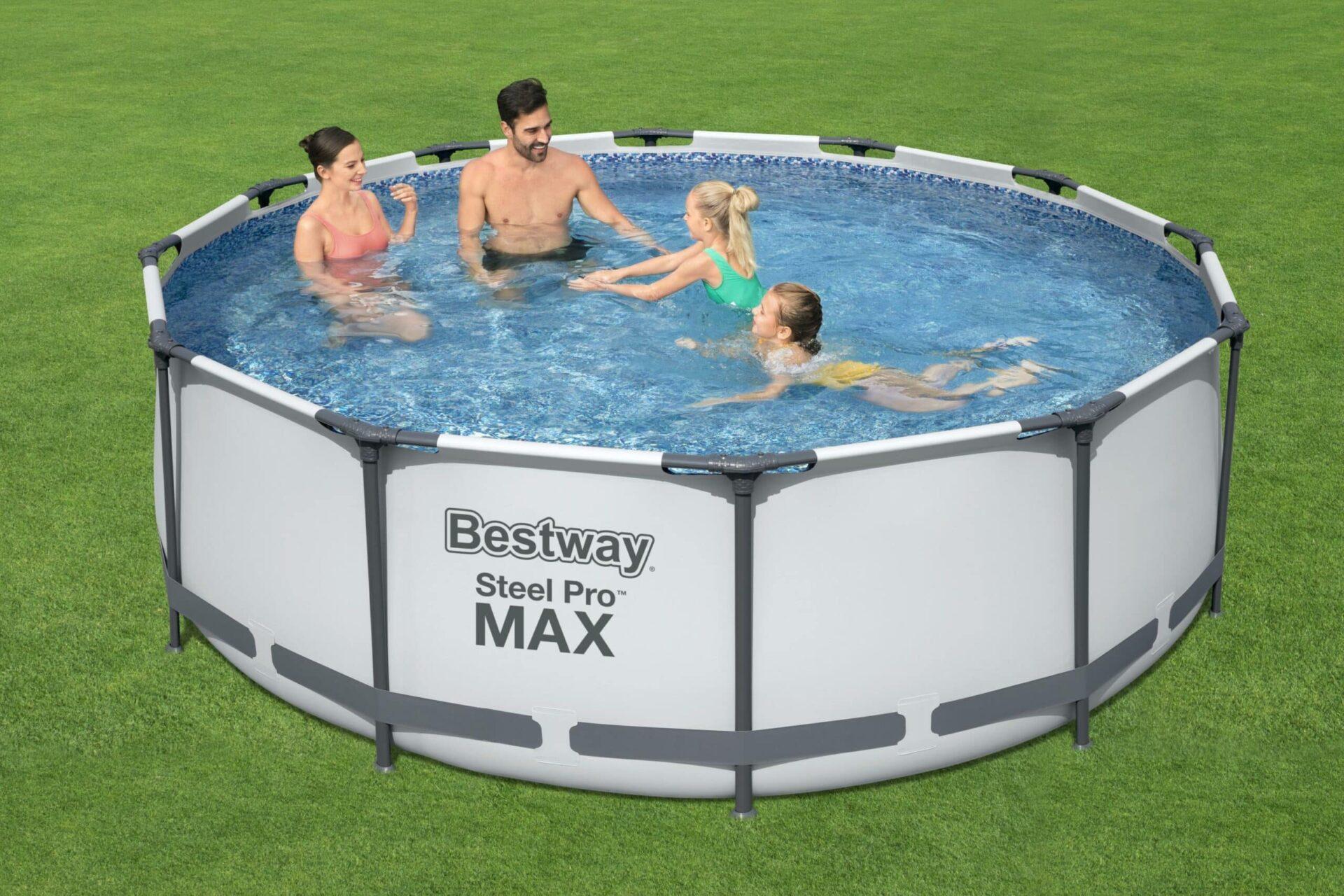 Rundt Steel Pro MAX R2 frittstående basseng familie
