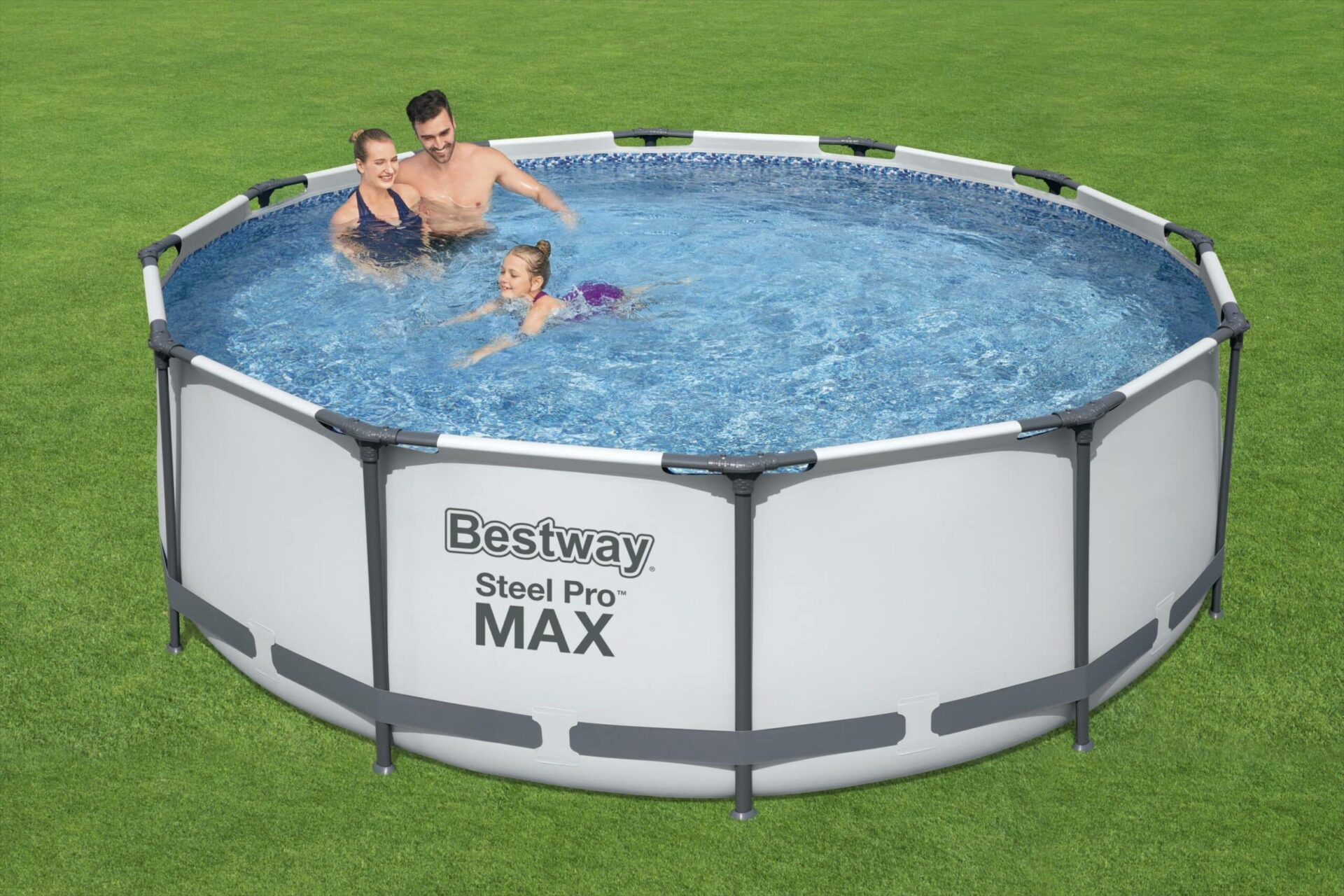 Rundt Steel Pro MAX R2 svømmebasseng barn