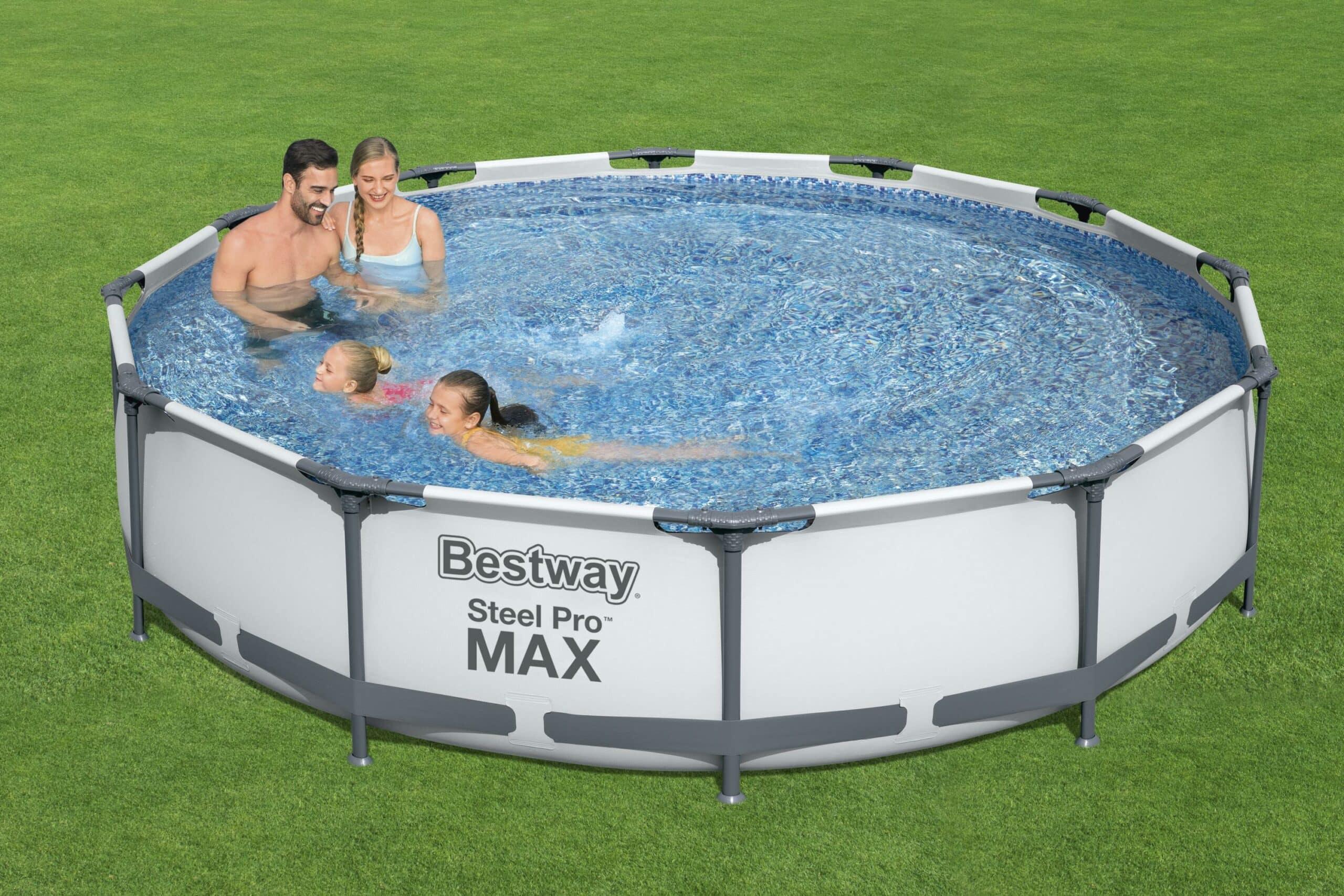 Rundt Steel Pro MAX R1 frittstående basseng til aktiviteter