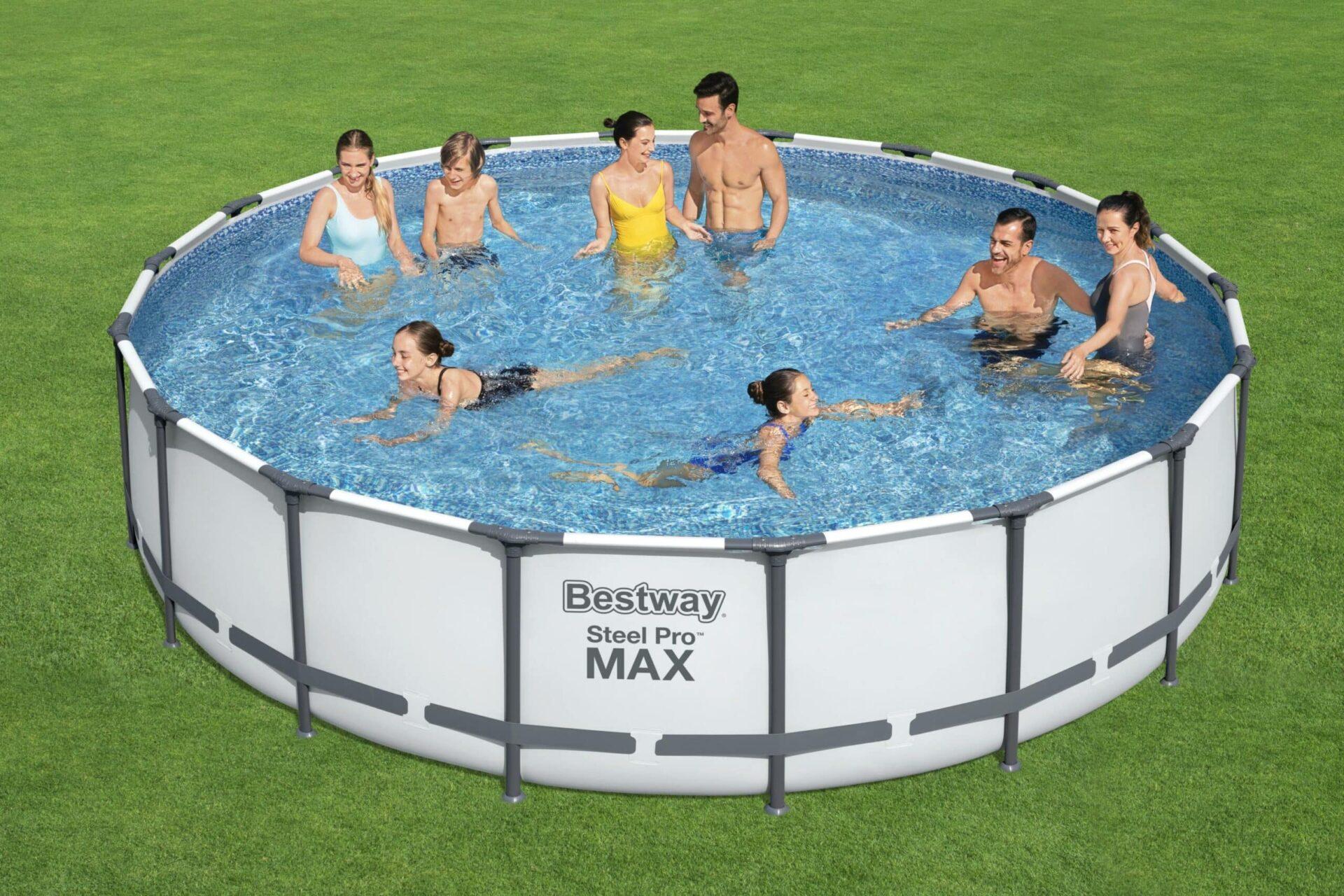 Rundt Steel Pro MAX Q4 svømmebasseng til god pris
