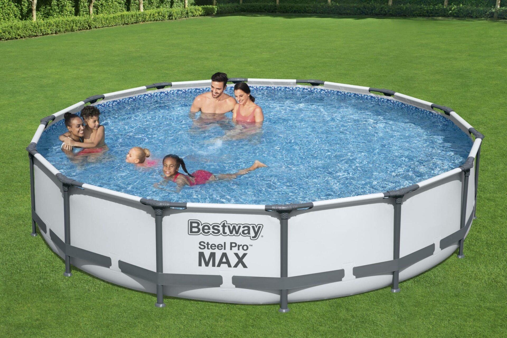 Rundt Steel Pro MAX Z0 basseng perfekt til familie og venner