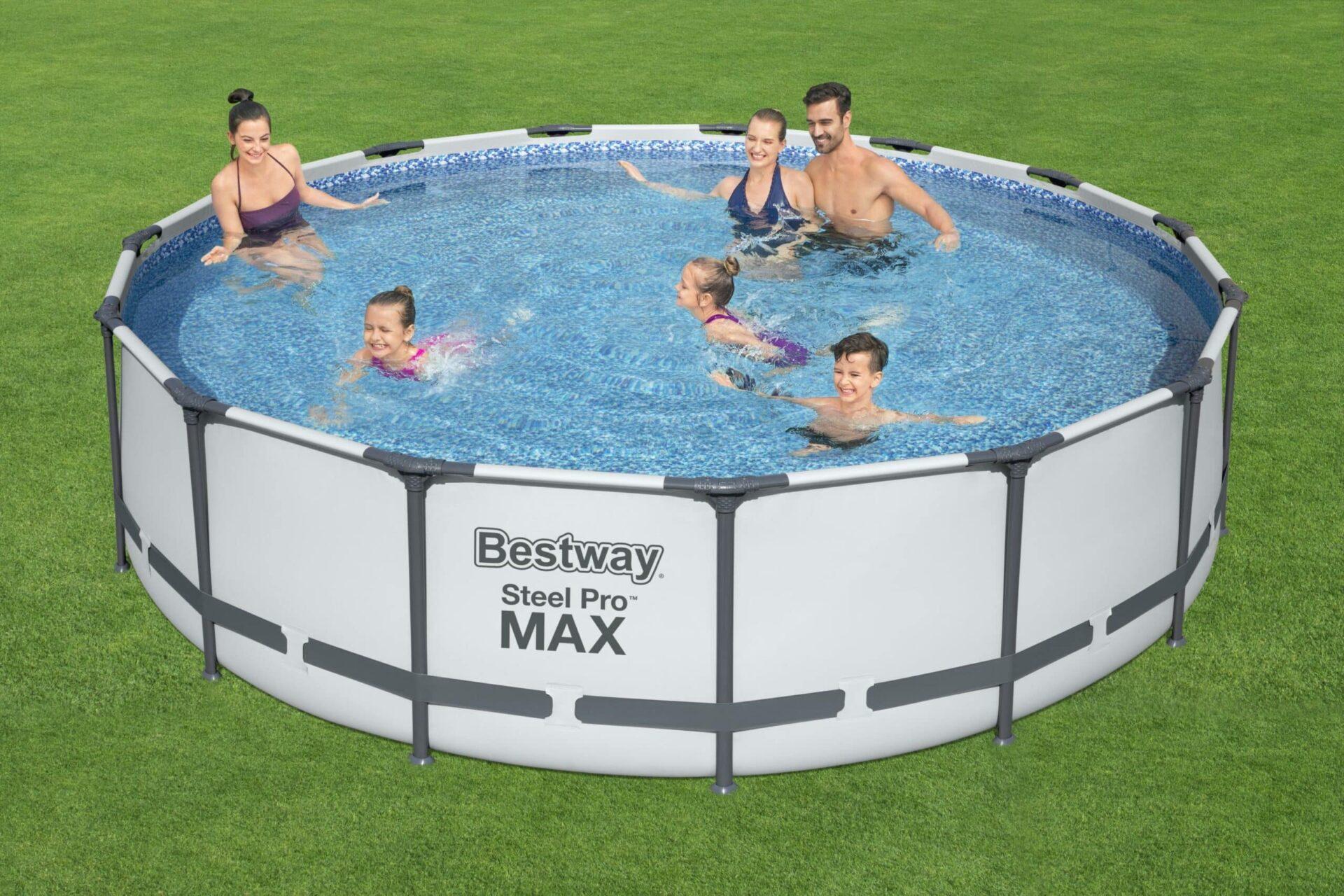 Rundt Steel Pro MAX Z2 familiebasseng