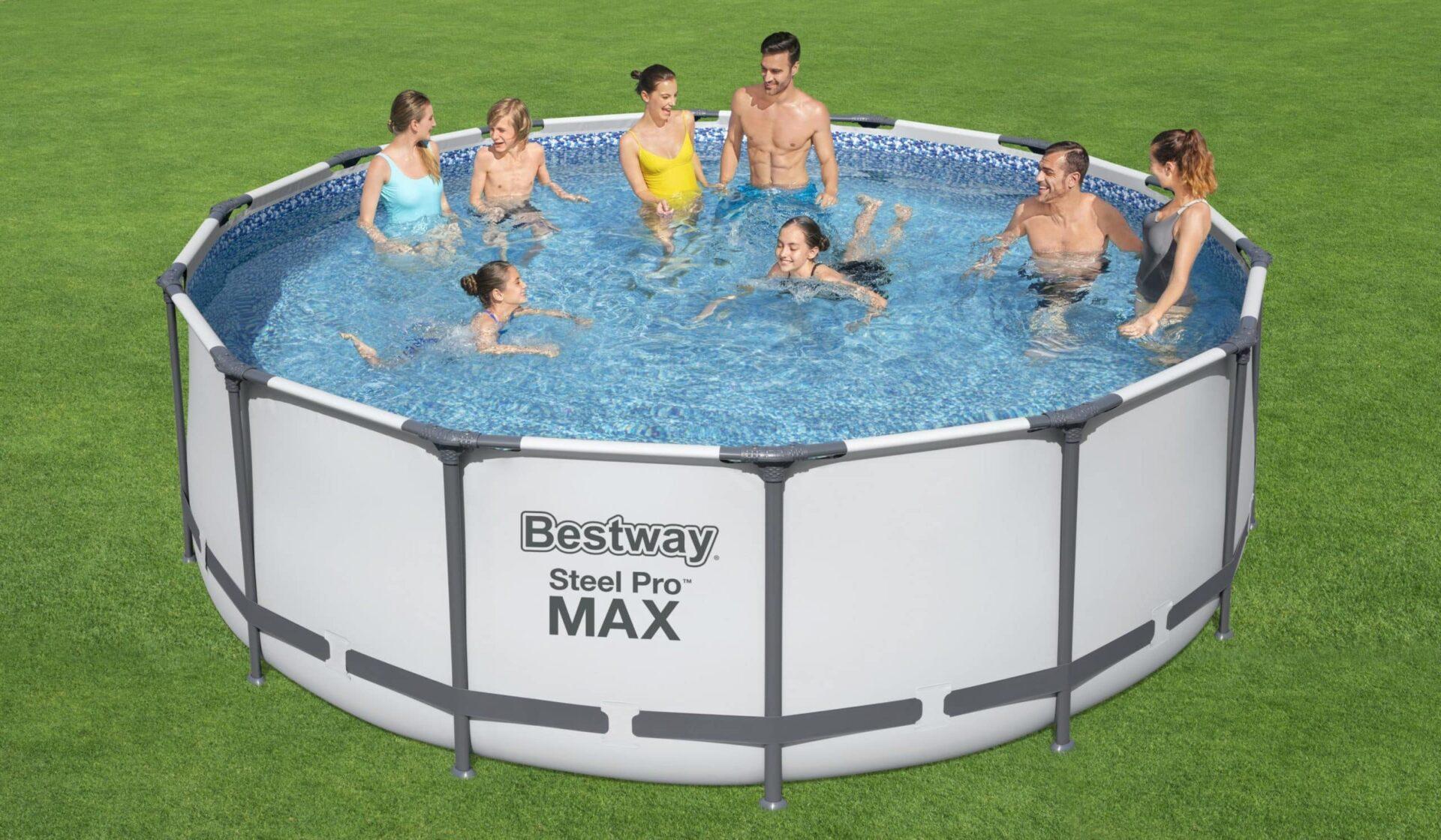 Rundt Steel Pro MAX Q1 bassengsett familie Bestway