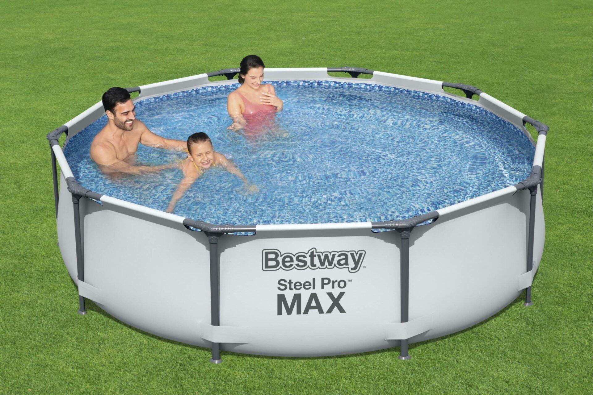 Rundt Steel Pro MAX bassengsett svømmebasseng barn