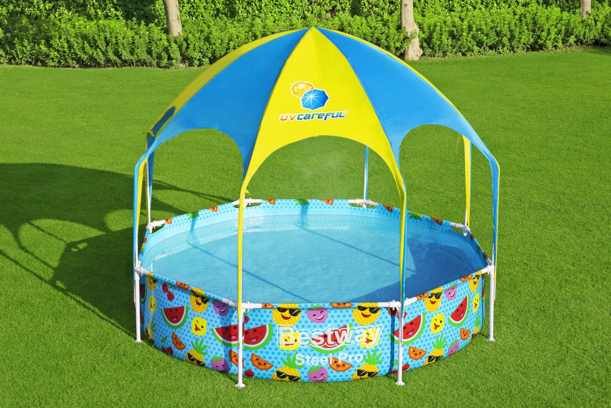 Rundt Steel Pro UV Careful bassengsett bestway svømmebasseng barn