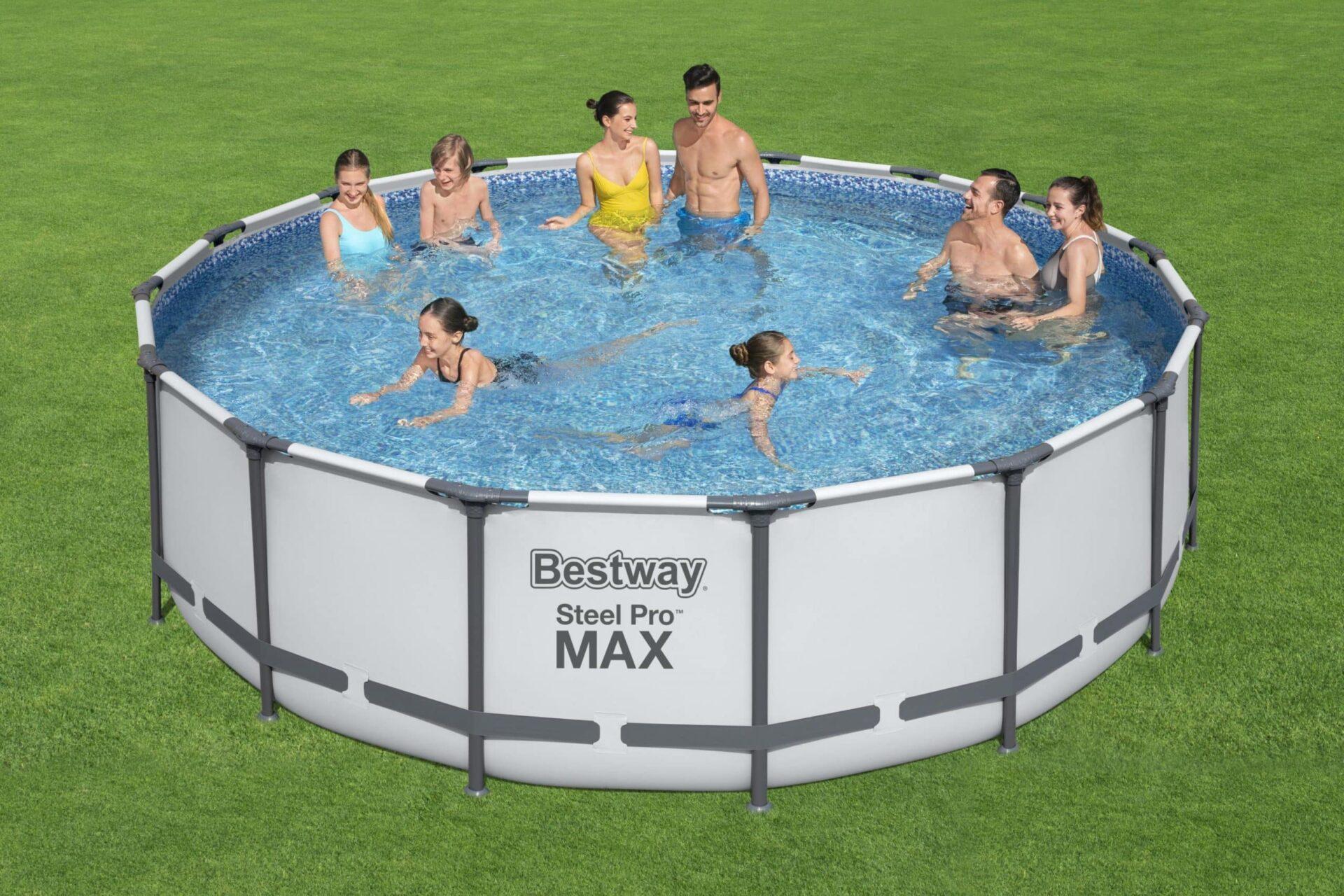 Rundt basseng Steel Pro Max Bestway familie