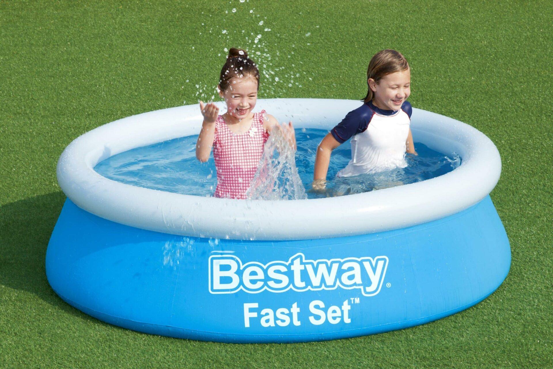 Rundt Bestway Fast barnebasseng til barna