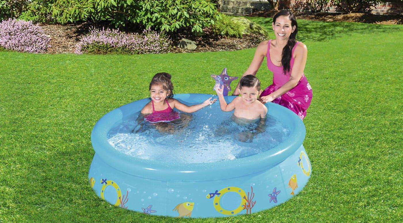 Rundt MySpray turkis bassengsett til hagen