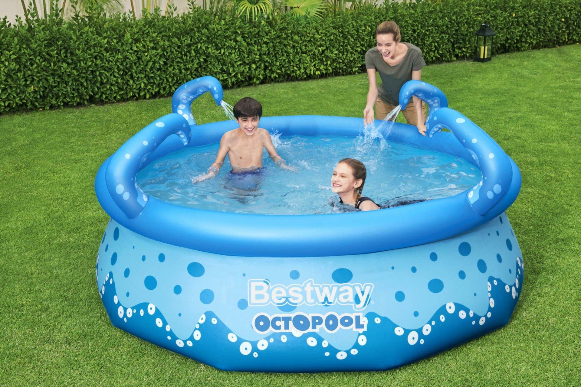 Rundt OctoPool bassengsett til barnefamilier