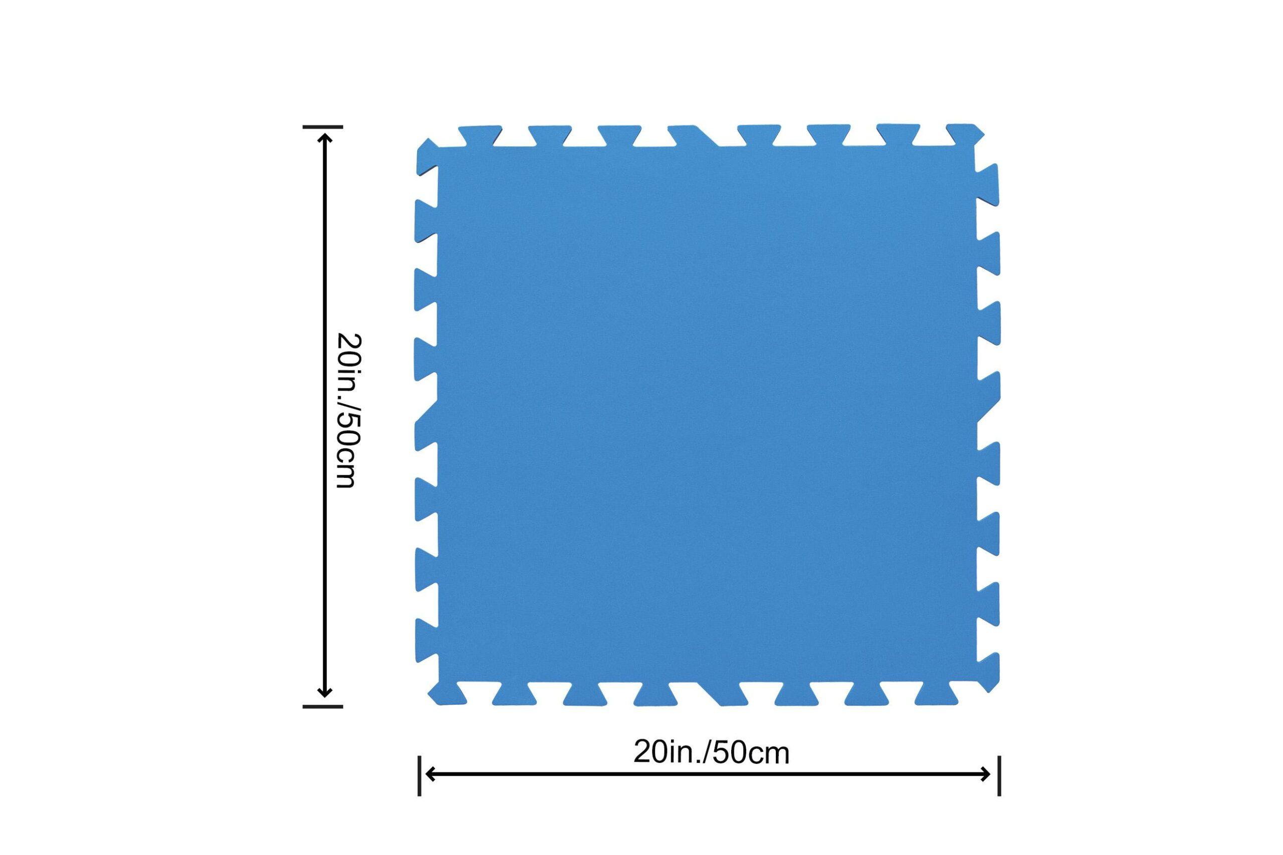 Bestway gulvbeskytter til hagebasseng (50cm x 50cm) størrelse