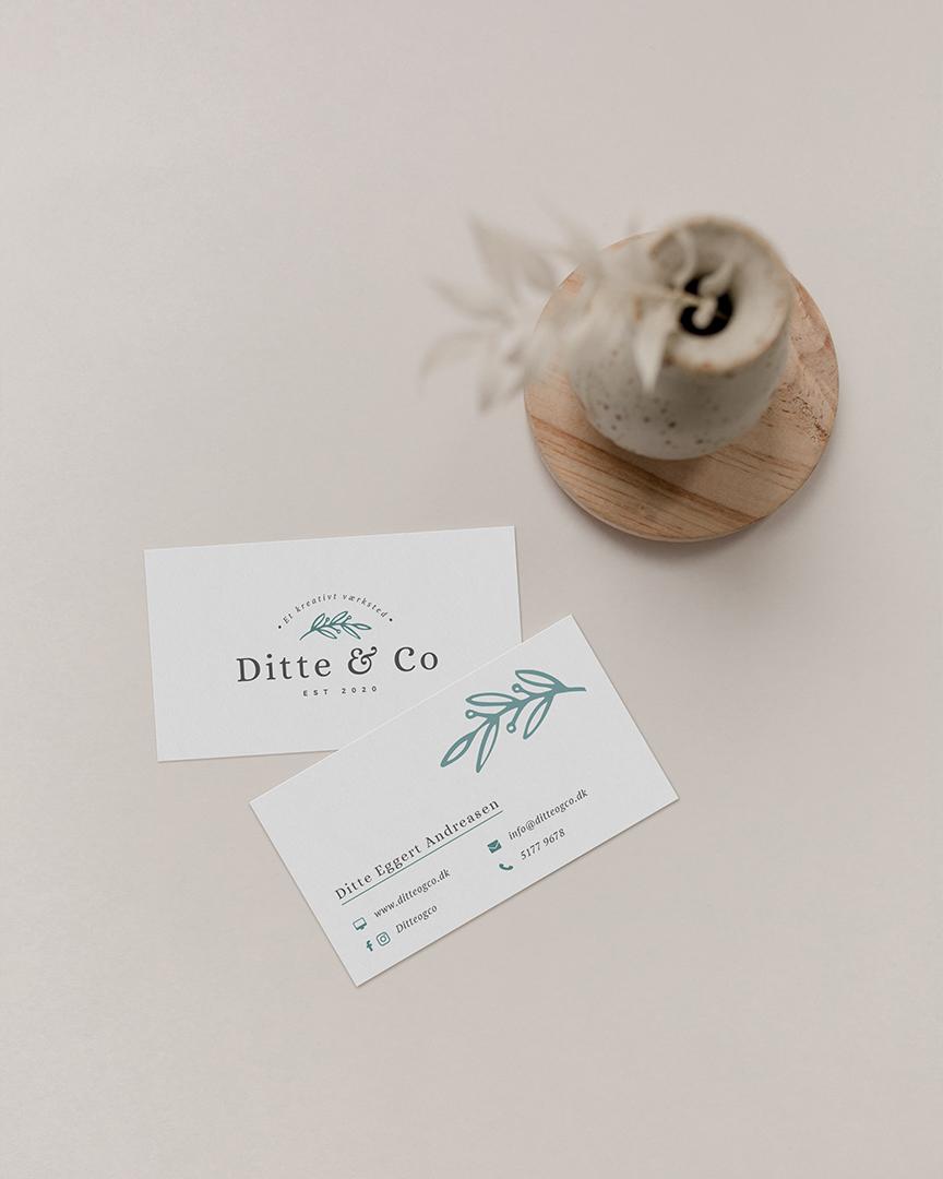 Ditte & Co – Visitkortdesign