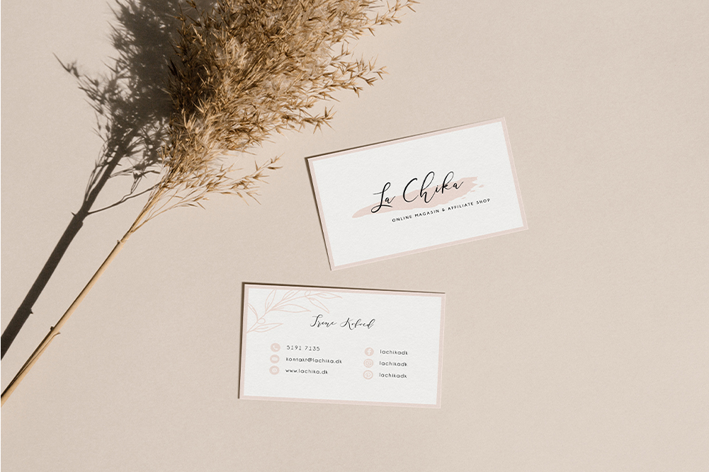 Lachika – Visitkortdesign