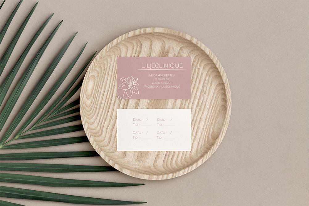 Liljeclinique – Bestillingskort