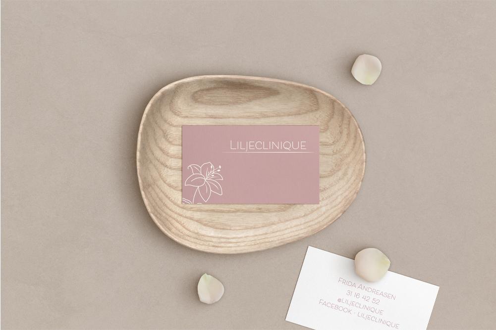 Liljeclinique – Visitkortdesign