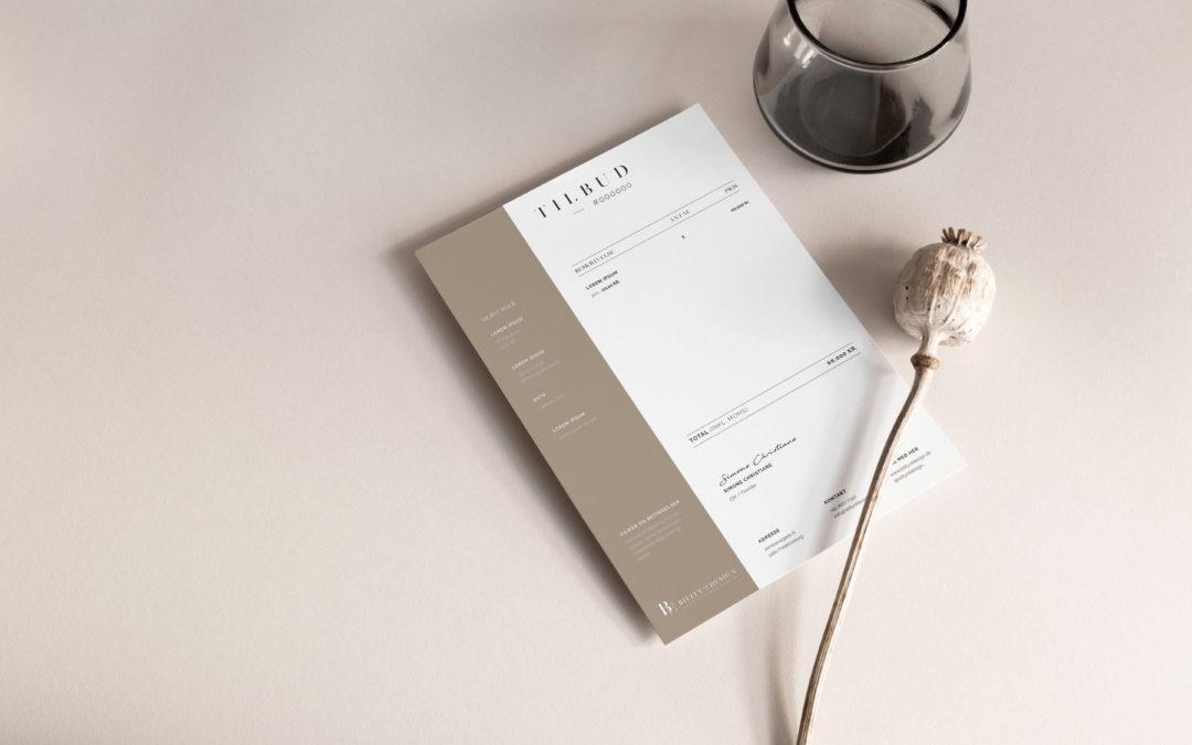 Bility Of Design – Tilbuds design