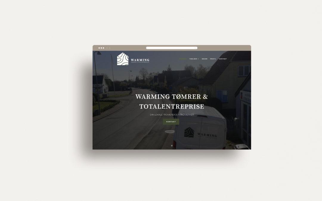 Warming Tømrer & totalentreprise – Webdesign