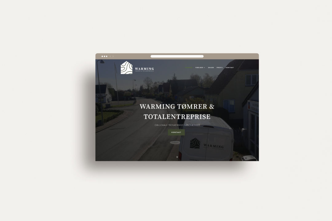 Warming Tømrer & totalentreprise – Webdesign